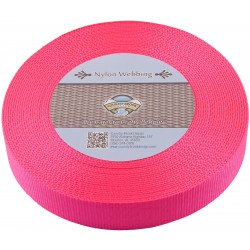 1 1/2 Inch Hot Pink Heavy Nylon Webbing