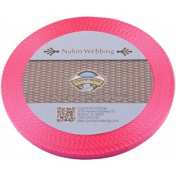 3/8 Inch Hot Pink Heavy Nylon Webbing