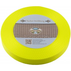 3/4 Inch Hot Yellow Heavy Nylon Webbing