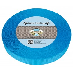 5/8 Inch Ice Blue Heavy Nylon Webbing