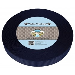 3/4 Inch Navy Blue Heavy Nylon Webbing