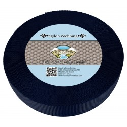 1 1/2 Inch Navy Blue Heavy Nylon Webbing