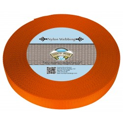 3/4 Inch Orange Heavy Nylon Webbing