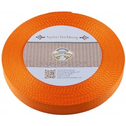 5/8 Inch Orange Heavy Nylon Webbing