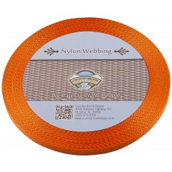 3/8 Inch Orange Heavy Nylon Webbing