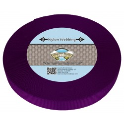 1 Inch Purple Heavy Nylon Webbing