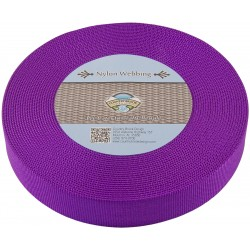 1 1/2 Inch Purple Heavy Nylon Webbing