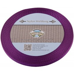 3/8 Inch Purple Heavy Nylon Webbing
