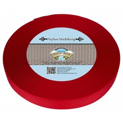 5/8 Inch Red Heavy Nylon Webbing