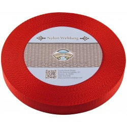 3/4 Inch Red Heavy Nylon Webbing