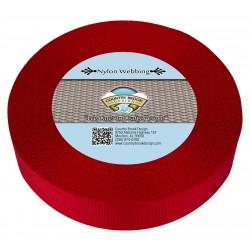 2 Inch Red Heavy Nylon Webbing