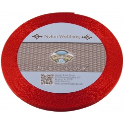 3/8 Inch Red Heavy Nylon Webbing