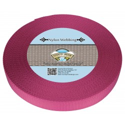 5/8 Inch Rose Heavy Nylon Webbing