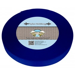 3/4 Inch Royal Blue Heavy Nylon Webbing