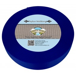 1 1/2 Inch Royal Blue Heavy Nylon Webbing