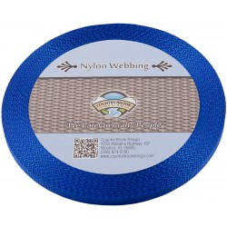 3/8 Inch Royal Blue Heavy Nylon Webbing