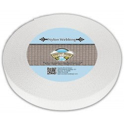 5/8 Inch White Heavy Nylon Webbing