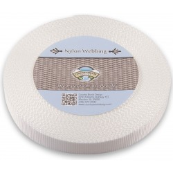 3/4 Inch White Heavy Nylon Webbing