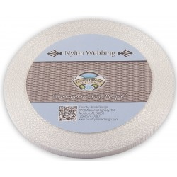 3/8 Inch White Heavy Nylon Webbing