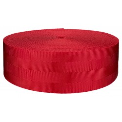 2 Inch 4 Panel Red Light Weight Nylon Webbing Closeout