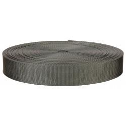 1 Inch Grey Lite Weight Nylon Webbing Closeout