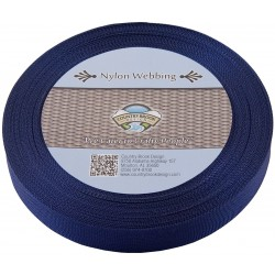 1 Inch Navy Blue Lite Weight Nylon Webbing