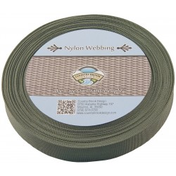 1 Inch Olive Drab Green Lite Weight Nylon Webbing