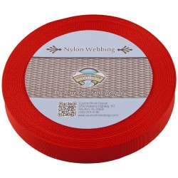 1 Inch Red Lite Weight Nylon Webbing