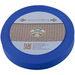 1 Inch Royal Blue Lite Weight Nylon Webbing