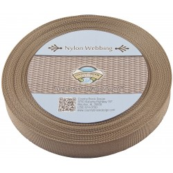1 Inch Coyote Tan Lite Weight Nylon Webbing
