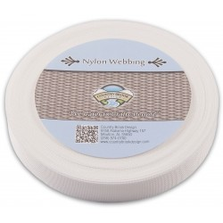 3/4 Inch White Lite Weight Nylon Webbing