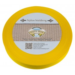 1 Inch Yellow Lite Weight Nylon Webbing