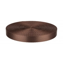 3/4 Inch Brown Heavy Plus Nylon Webbing Closeout