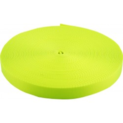 3/8 Inch Neon Yellow Heavy Plus Nylon Webbing Closeout