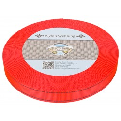 1 Inch Blaze Orange Reflective Nylon Webbing