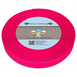 1 Inch Hot Pink Reflective Nylon Webbing