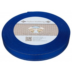 1 Inch Royal Blue Reflective Nylon Webbing