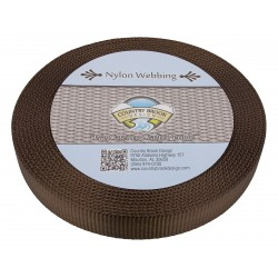 3/4 Inch Brown Super Heavy Nylon Webbing