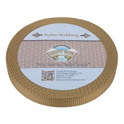 3/4 Inch Copper Gold Super Heavy Nylon Webbing