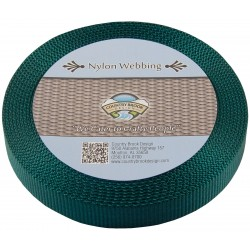 1 Inch Forest Green Super Heavy Nylon Webbing