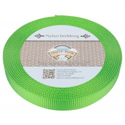 1 Inch Hot Green Super Heavy Nylon Webbing