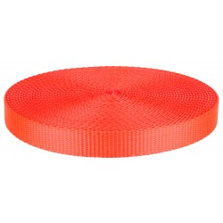 3/4 Inch Neon Orange Super Heavy Nylon Webbing Closeout