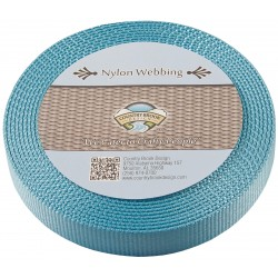 1 Inch Ocean Blue Super Heavy Nylon Webbing