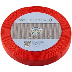 1 Inch Red Super Heavy Nylon Webbing