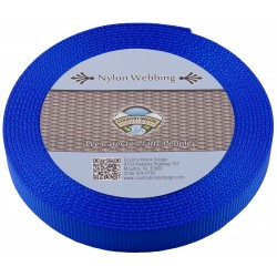 3/4 Inch Royal Blue Super Heavy Nylon Webbing