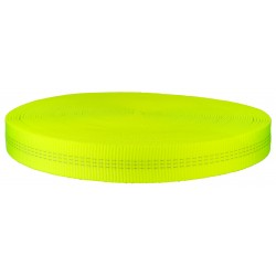 1 Inch Hot Yellow Tubular Nylon Webbing Closeout