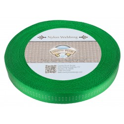 1 Inch Hot Green Climbing Spec Tubular Nylon Webbing