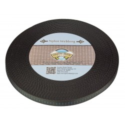 5/8 Inch Black Military Spec Tubular Nylon Webbing