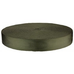 1 1/4 Inch Olive Drab Military Spec Tubular Nylon Webbing Closeout