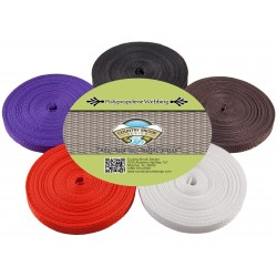 1/2 Inch 10 Yards of 5 Colors Polypro Webbing